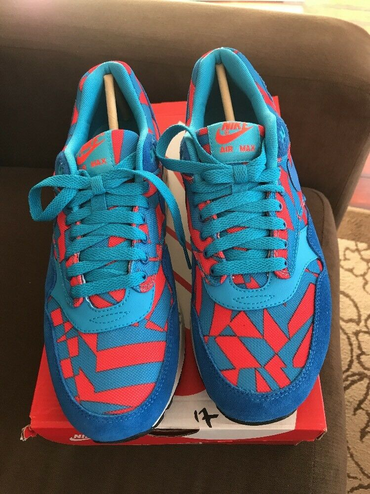 Nike Air Max 1 GPX Mens 684174-401 Blue Lagoon Athletic Running Shoes Size 8.5