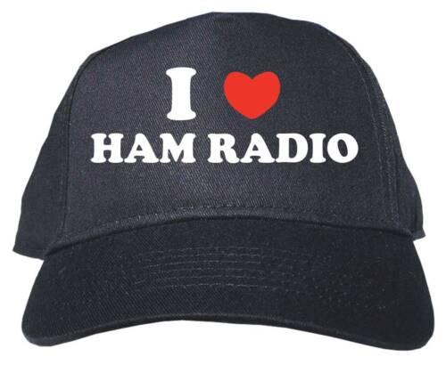 I Heart Love HAM Radio Baseball Hat Cap Adjustable