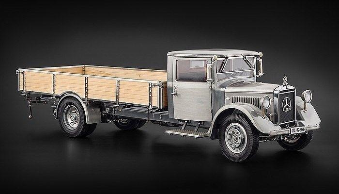 1 18 CMC 1934-38 MERCEDES-BENZ LO 2750 Plateforme Camion Clair Finition Version M-171