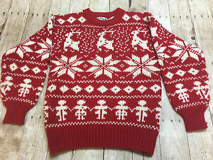 image is loading bravo ugly christmas sweater red white snowflake reindeer