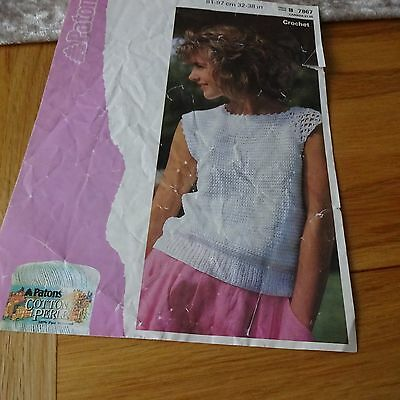 "40/"" Long Maxi Skirt Crochet Pattern Ladies Chevron Design 34-40/"" Hips Vintage"