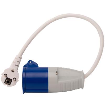 European 16A Mains Hook Up Adaptor Lead Plug Coupler Motorhome Caravan Site 230
