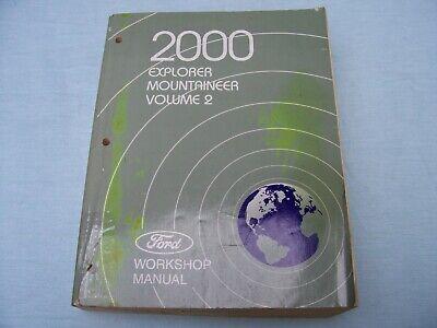 2000 FORD EXPLORER, MERCURY MOUNTAINEER VOL.2 WORKSHOP ...