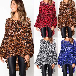 1b5887c81779 Image is loading Fashion-Women-Leopard-Print-Shirt-Top-Ladies-Autumn-
