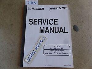 1994 & Newer MERCURY Marine 2.2 - 2.5 - 3.0 - 3.3 Service Manual OEM