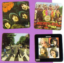 """Acrylic Beer Drink Mat Coaster Word Art The Beatles Song Titles 4/"""" x 4/"""" NEW"""