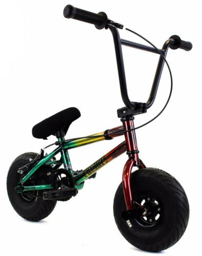 "Fatboy Stunt Mini 10/"" BMX Vélo Fat Tire Freestyle Vélo BOMBE FUMIGÈNE rasta NEUF"
