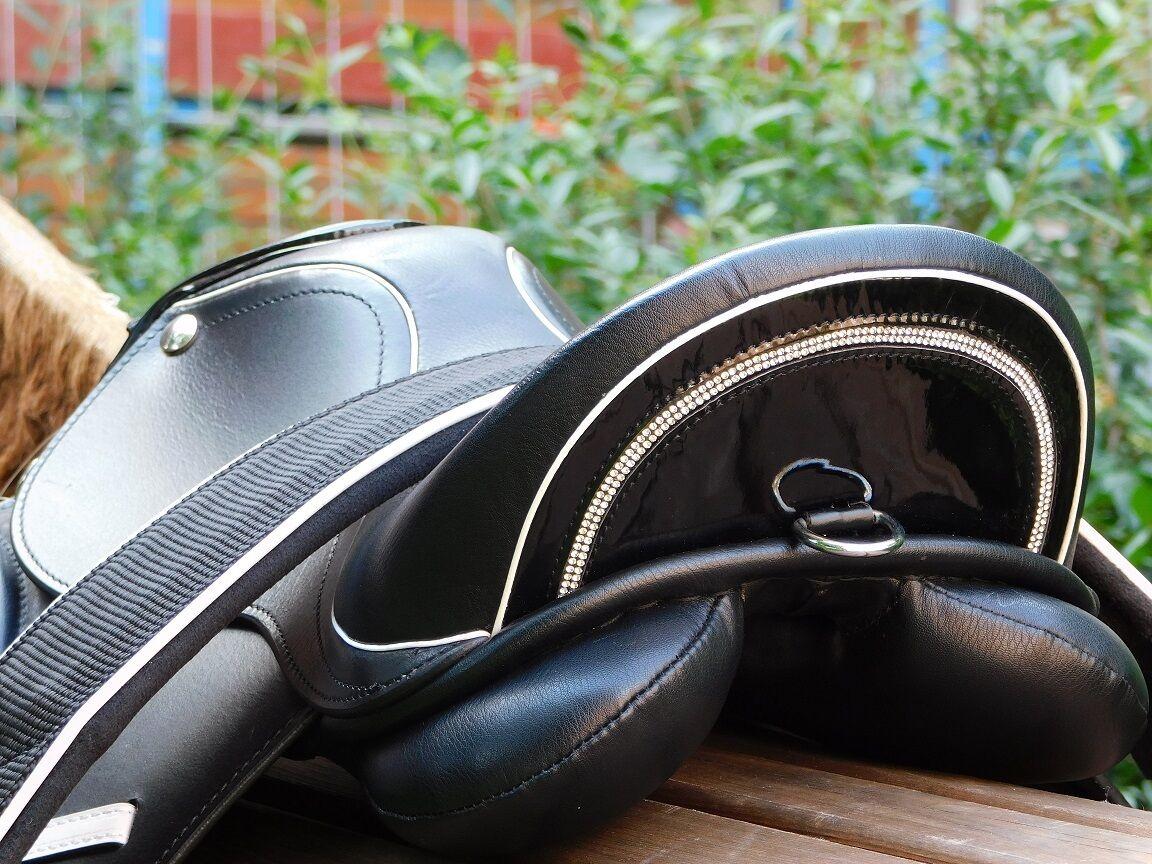 Sattel Mono Ledersattel Minishetty Shetty Shetty Shetty Strass Glitzer 10 12 14 15 Zoll 6a3510