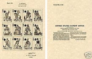 Cartes à Jouer États-unis Verni 1931 Estampe Prêt à Cadre Fantastiques Paris Jeu