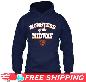 sale retailer 63302 f7bdb Details about Bears Monsters Of The Midway Sweatshirt Hoodie Chicago Bears  Vintage 2019
