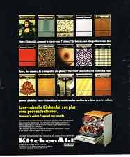 PUBLICITE ADVERTISING   1974    Kitchen Aid   lave vaisselle