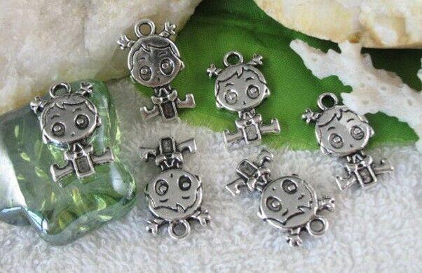 20pcs Tibetan silver baby girl charm FC10306