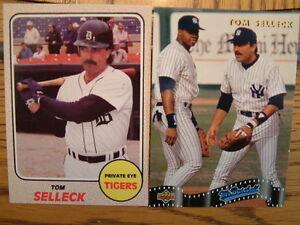 Details About Tom Selleck Baseball Cards Detroit Tigers Ny Yankees Magnum Pi Mr Baseball Pi
