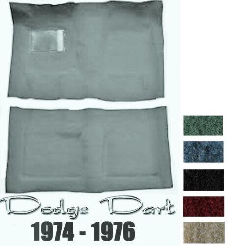 Dodge Dart 1974 1975 1976 Replacement Restoration Cutpile Molded Carpet Kit
