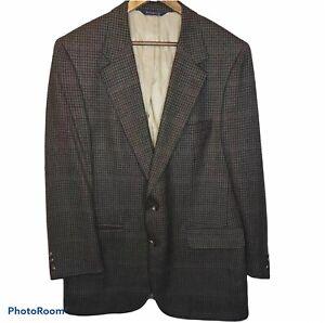 Burberry-Vintage-Mens-Sport-Coat-Blazer-Jacket-Size-44-100-Wool-2-Button