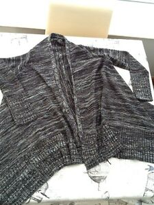 select for latest quality latest style of 2019 Details about Tesco F & F Waterfall Cardigan Black Grey 8 Ladies Women's  Used