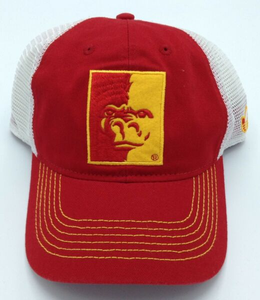 NCAA Pittsburgh State Gorillas Adidas Adult Half Mesh Adjustable Fit Cap  Hat NEW ccdbfea70cd3