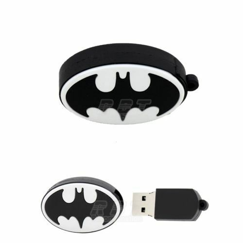 cartoon Batman Logo USB 2.0 Memory Stick Flash pen Drive 4GB 8GB 16GB 32GB DP398