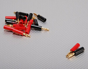 AMASS RC Banana Plugs 4mm 10pairs//set WIRES IDEAL FOR CHARGER LEADS