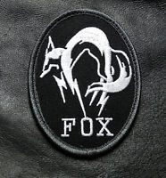 Metal Gear Solid Fox Hound Ps4 B/w Embroidered Hook Tactical Patch