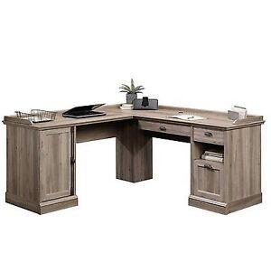 Sauder 418270 Barrister Lane Salt Oak Lshaped Desk eBay