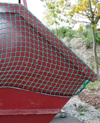 Anhänger Gepäcknetz Anhängernetz Ladungssicherungsnetz Abdecknetz grün 8 x 3,5 m