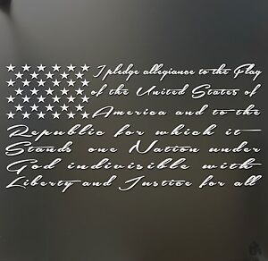 I pledge allegiance to the flag America Sticker Window Decal Truck ...