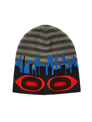 Adattabile John Lewis Childrens Eyehole Cappello Beanie Grigio/blu/rosso 3-5 Anni Nuovo Di Zecca-mostra Il Titolo Originale Giada Bianca