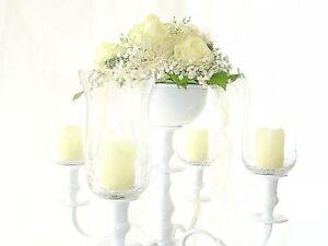 Blumenschale weiss f r blumenschmuck im kerzenleuchter Kerzenleuchter hochzeit
