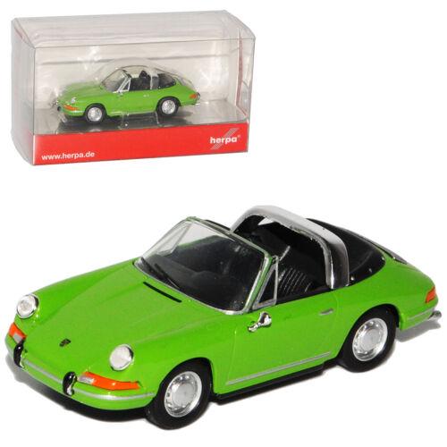 Porsche 911 Urmodell Targa Grün 1963-1973 H0 1//87 Herpa Modell Auto mit oder o..