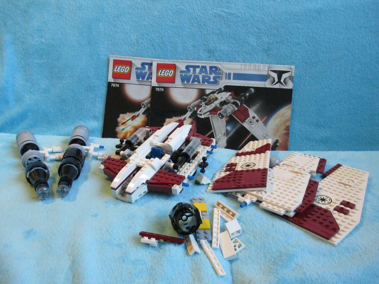 LEGO Star Wars Set 7674 - Clone V-19 Torrent INCOMPLETE + Instructions TMV-19