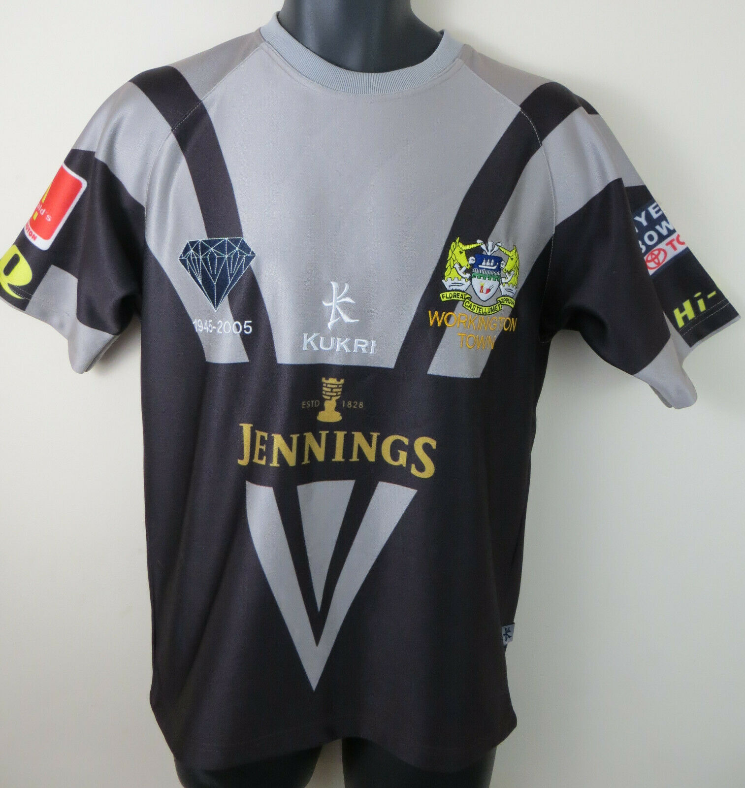 Kukri Workington Town Rugby League 1945-2005 Shirt Jersey RLFC Small S 38