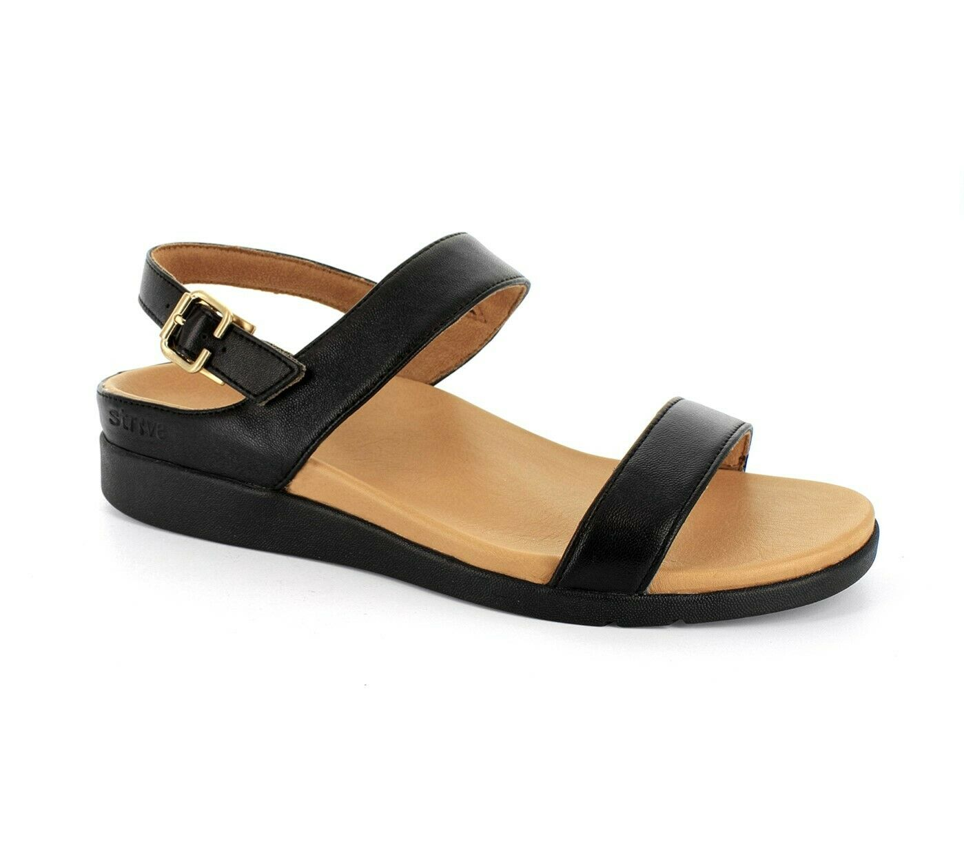 Strive Lucia Women's Comfortable And Arch Supportive Sandals Black - 9 Medium