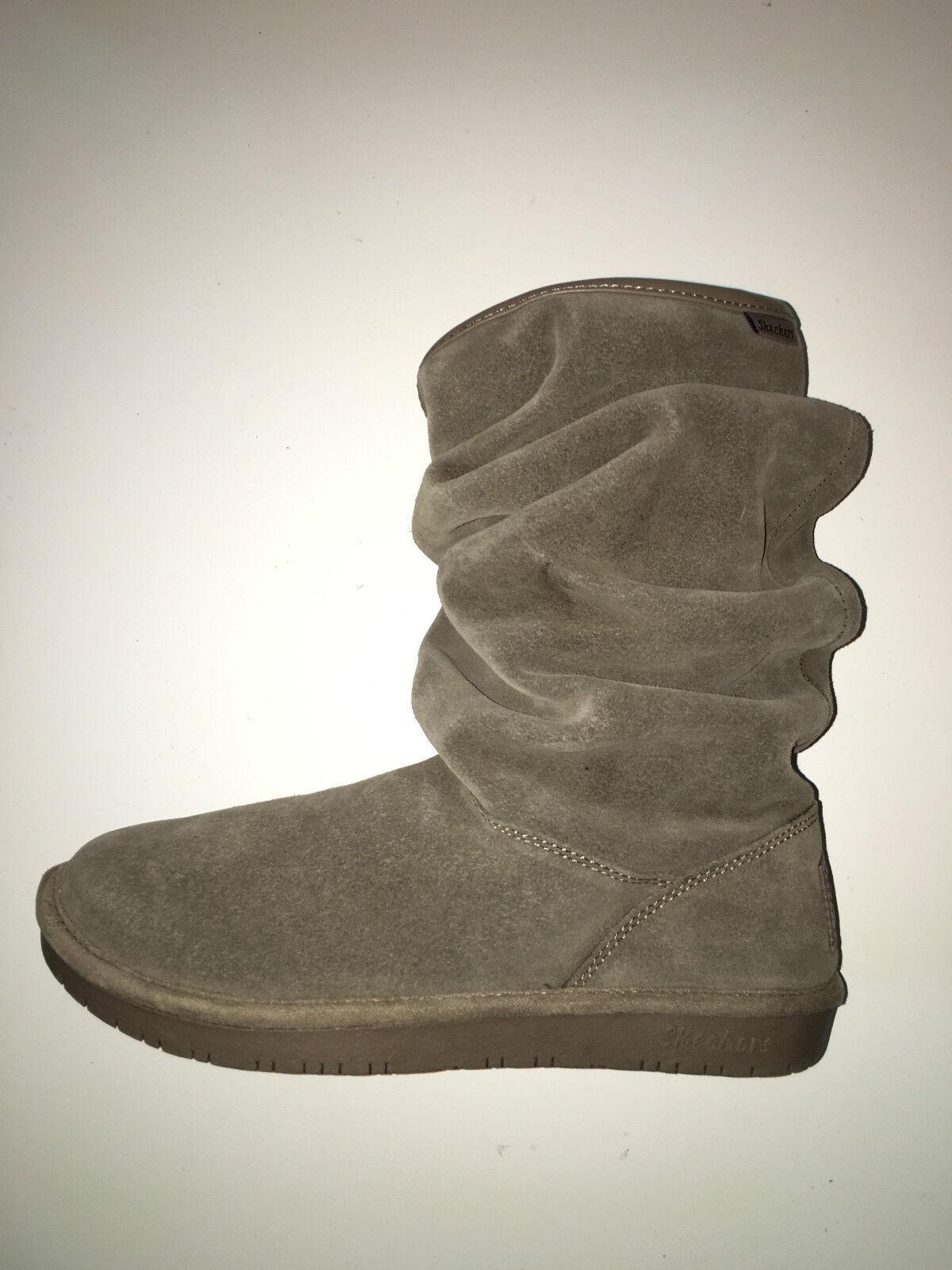 NEW Skechers Womens Shelbys-Helsinki Slouch Tan Snow Boots sz 6M