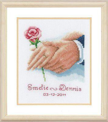 Vervaco-puntada cruzada contada Kit-Boda Record-Just Married-PN-0154752