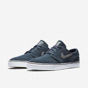 f94da8dfa0e0 Nike SB Zoom Stefan Janoski Premium SE Skate Shoes Metal Silver SIZE ...