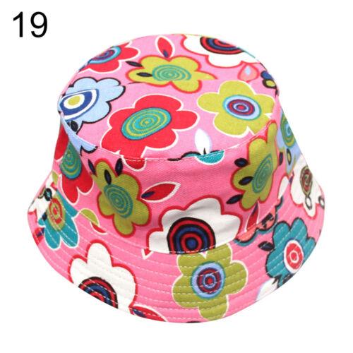 LC/_ Baby Dot Floral Eimer Sonnenhut Kinder Sommer Mädchen Jungen Kappe Geschenk