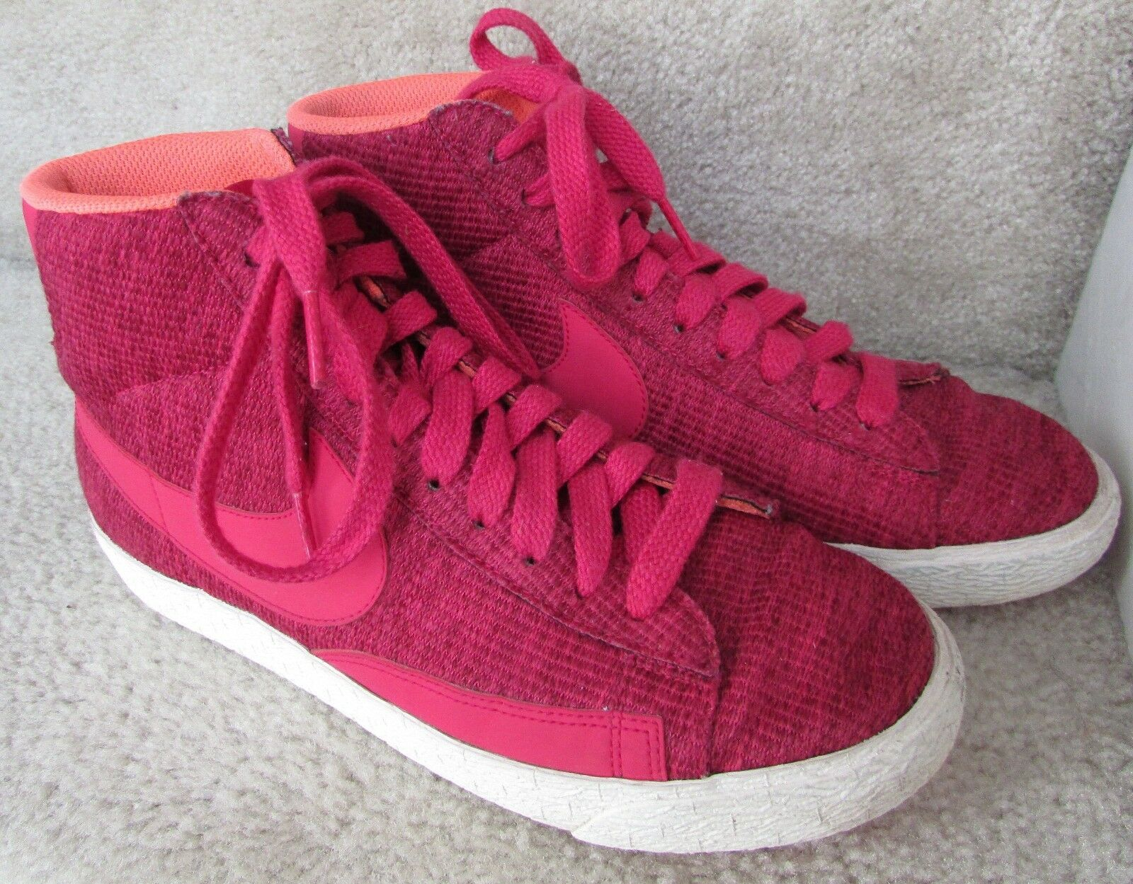Nike Womens Blazer Mid Garnet Fuscia Sample Sneakers Shoes Size 7