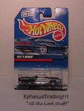 Hot Wheels Main 1963 63 FORD T-Bird Sports Roadster Black w/White #130 1/64 NEW!