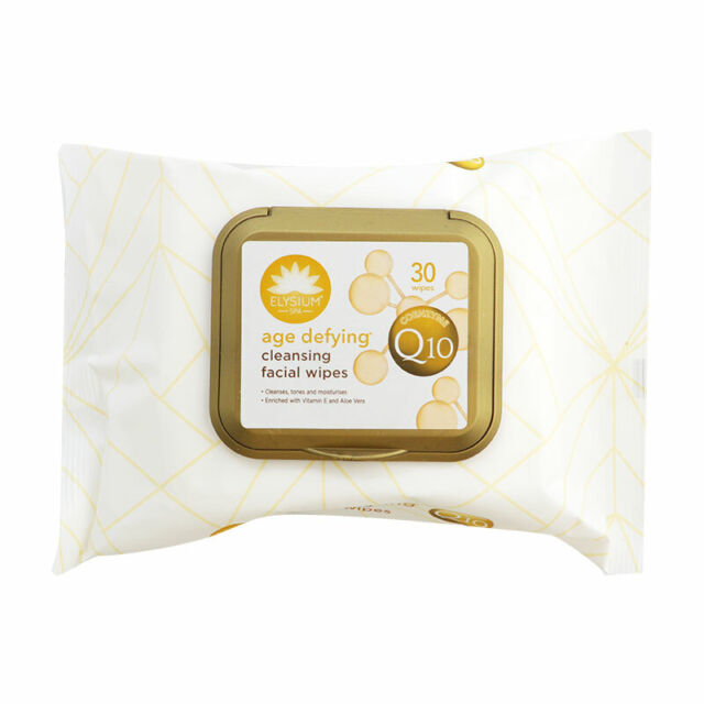 Elysium Spa Age Defying Cleansing Facial Wipes With Coenzyme Q10