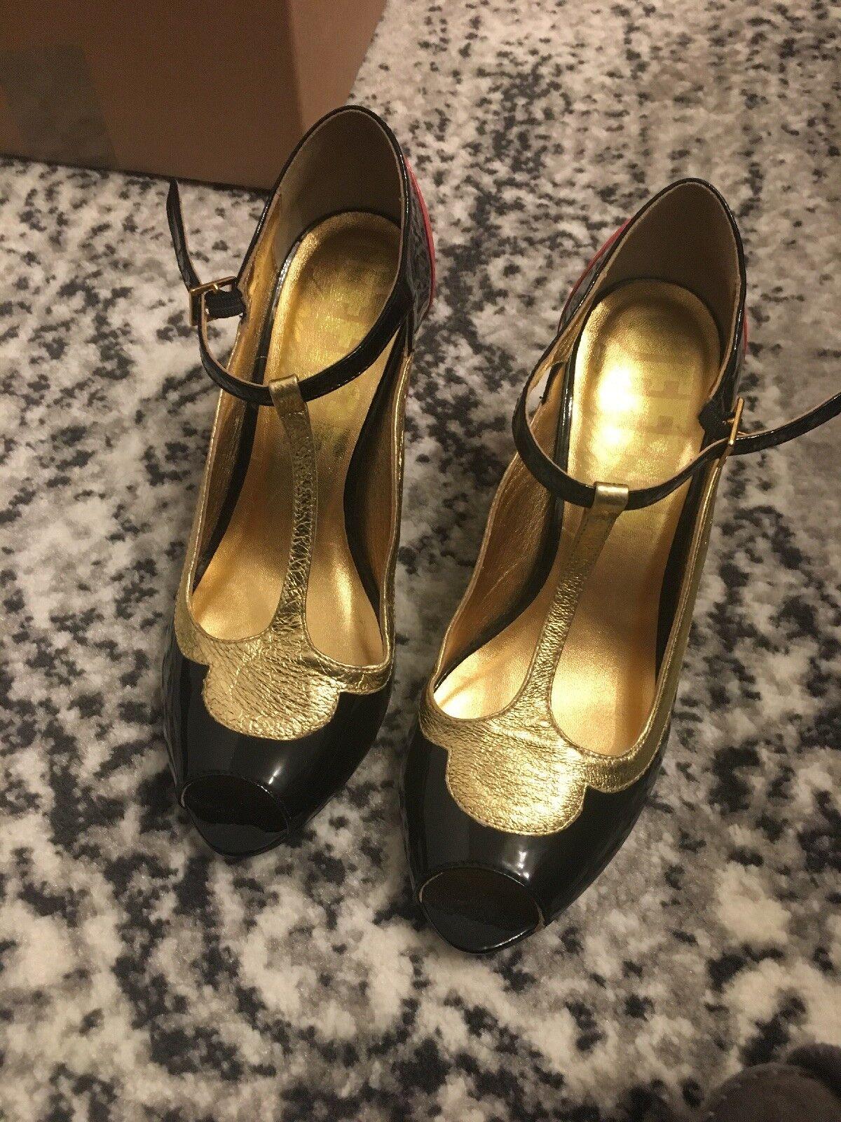 OFFICE LONDON Multi Chaussures Cuir Taille UK 5. en ex état porté une fois