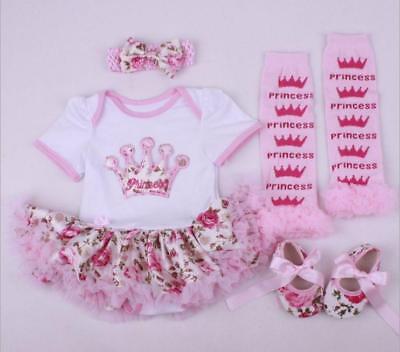 "0-22/"" Bebe Reborn Baby Girl Doll Clothes Clothing Newborn Dress Set Xmas Gift"