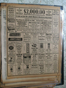 Coca Cola Newspaper 1914 COCA COLA SPEARMENT PEPSIN CHEWING GUM - AUGUSTA GA