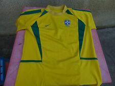 maillot de foot vintage Bresil Nike Ronaldo 69cm sur 55cm floqué Ronaldo
