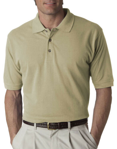UltraClub Men/'s Relaxed Fit Short Sleeve Classic Pique Polo Shirt 8535