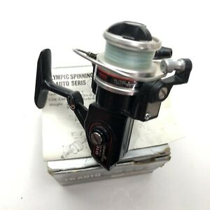 Vintage-Olympic-910-LG-Auto-Ultra-Light-Spinning-Reel-made-in-Japan