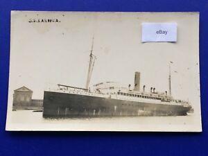 Postcard-Shipping-SS-KAROOLA-WW1-Troopship-Hospital-Ship-Launched-1909