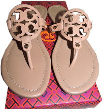 Tory Burch Miller Thong Sandal Makeup Leather shoe Flat Flip Flop 7.5 - 37.5