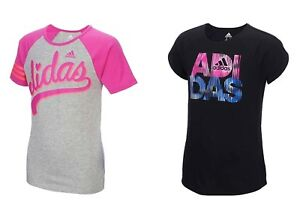 Adidas-Girls-039-Active-Short-Sleeve-T-Shirt-Select-size-color-New-with-tags