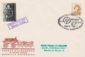 Poland-Stagecoach-Post-1973-Copernicus-Wabrzezno-Brodnica-analogous